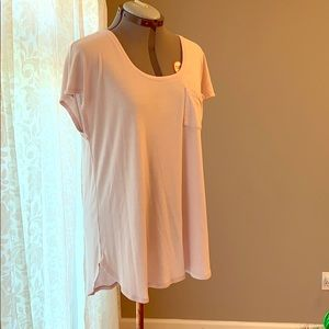 Maurices log pale pink top